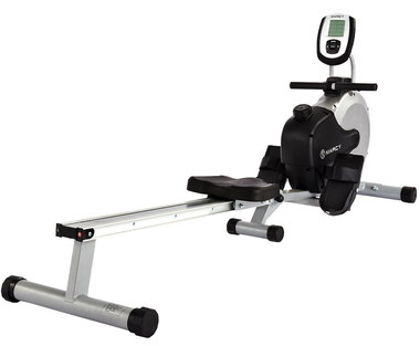 Fold Up Rowing Machine In Black And Chrome