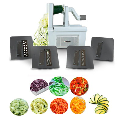 Expert Spiralizer With 4 Cutting Blades