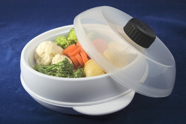 Vegetable Steamer For Microwave With Clear Lid