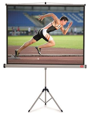 The 150 x 100cm Tripod Projector Screen With Athlete