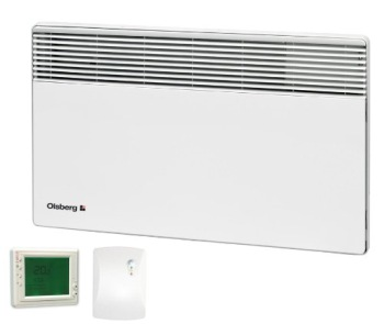Olsberg Corona Electric Panel Heater With Timer In White Finish