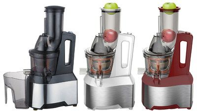 Orange Juice Extractor In Black, Red, Steel