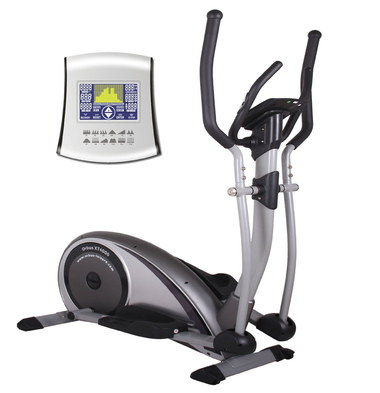 Bike And Cross Trainer Showing White Console