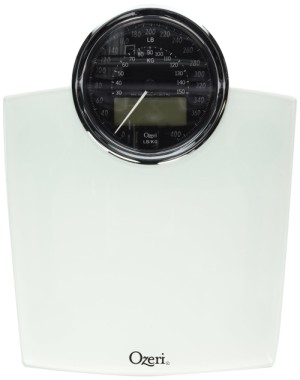 Ozeri Rev Mechanical Bathroom Scales With Black Dial