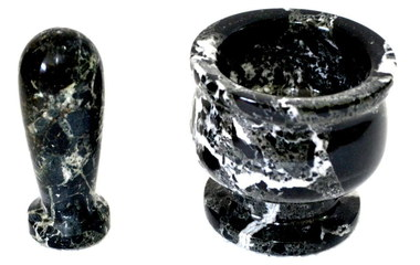 Granite Pestle Mortar Set In Black Granite