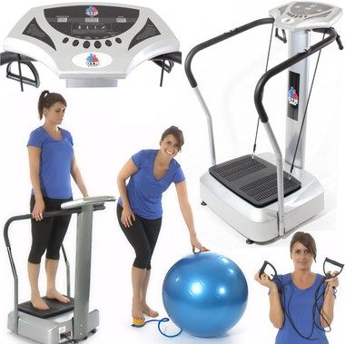 Vibration Exercise Machine Plate With Blue Gym Ball