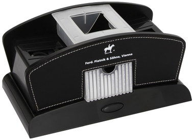 Dual Feeder Card Shuffler Machine In Gloss Black