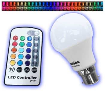 LED Colour Changing Light Bulb With White Colour Remote