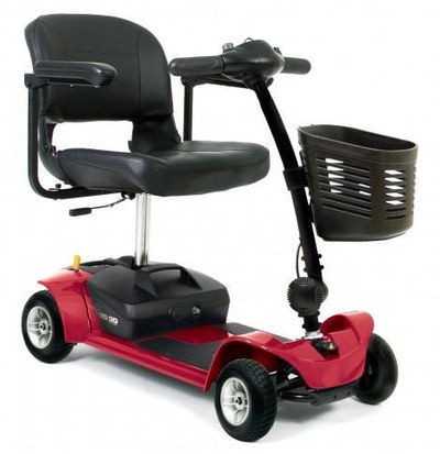 Foldaway Mobility Scooter In Rich Red