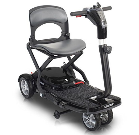 Pride Mobility Quest Lightest Folding Mobility Scooter In Black Metal Casing