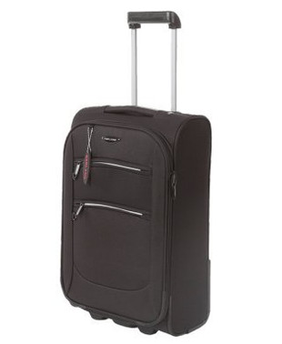 Cabin Luggage Suitcase With Front Zippers
