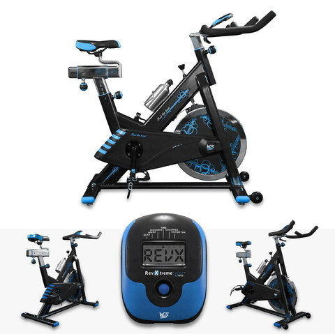 Ergonomic Indoors Aerobic Cycle Trainer In Black And Blue