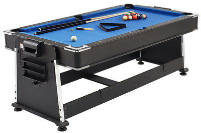 Blue Textile Billiard Table For Sale With 2 Players
