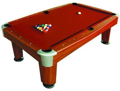Wood Frame Stylish American Pool Table With Wide Legs
