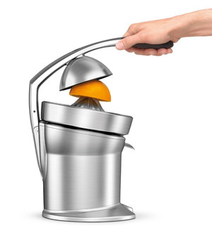 Citrus Press With Hand On Lever