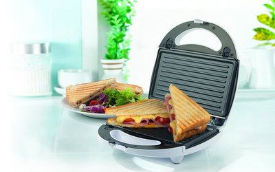Grill Plate Type 3 In 1 Hot Sandwich Maker In White