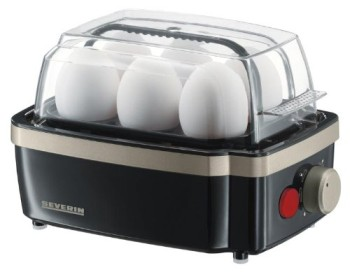Boiled Egg Cooker In Black And Grey Exterior