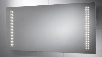 Led illuminated bathroom mirrors with de mister skyline led illuminated bathroom mirror with grey background aloadofball Choice Image