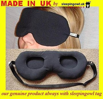 SleepingOwl Soft Silk Eye Mask With Hollow Areas