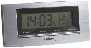 RC Alarm Clock In Brushed Steel