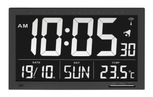 Clock With White Numbers On Black
