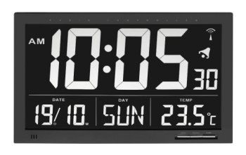 Radio Controlled Calendar Clock With Alarm Set
