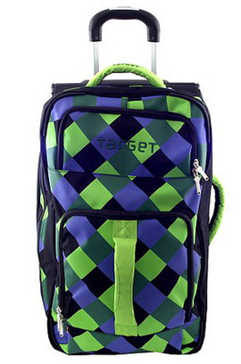 Bright 2 Wheeled Garment Bag In Blue And Green