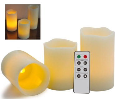 LED Flickering Candles With Grey Remote Control