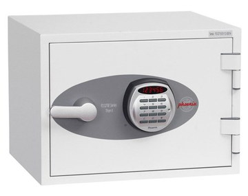 Box For Documents With Front Lock In White