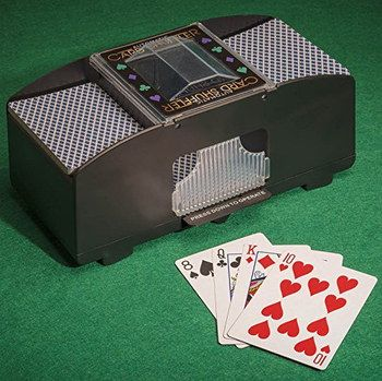 Ultra Fast Playing Card Shuffler In Brown Finish