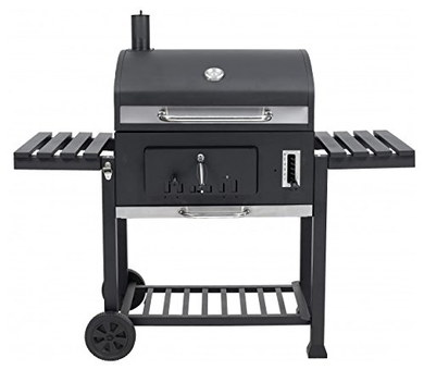 Large Charcoal BBQ With 2 Black Wheels