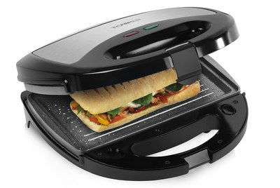 Stone Ceramic Breakfast Sandwich Maker With Black Exterior