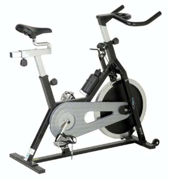 Indoor Exercise Bike In Black And Chrome Finish