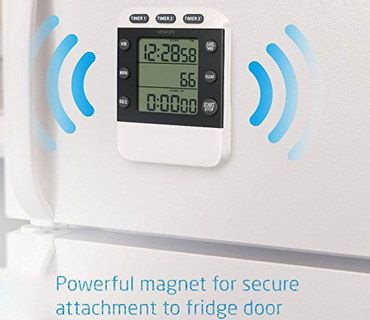 Small Magnetic Kitchen Timer In Black And White