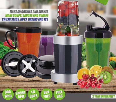 Smoothie Maker In Black And Chrome Finish