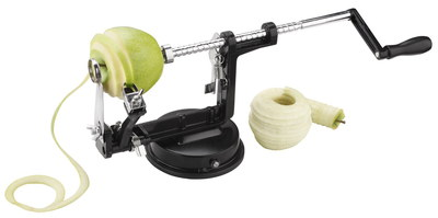 Steel Apple Spiral Peeling Machine In Black