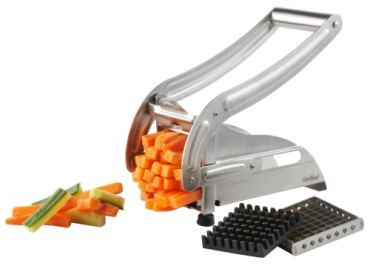 VonShef Sturdy Stainless-Steel Potato Chipper With 2 Grids