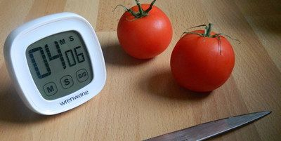 Loud Alarm Big Number Kitchen Timer On Wooden Table