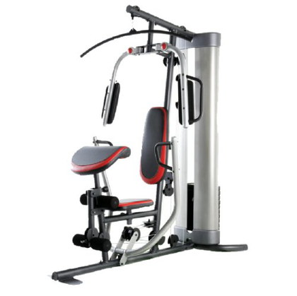 Multi Station Home Gym With Red And Black Cushion