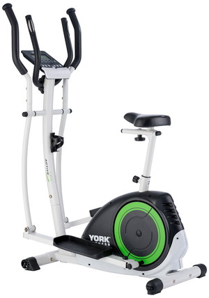 Exercise Bike Cross Trainer With Black Orange Wheel