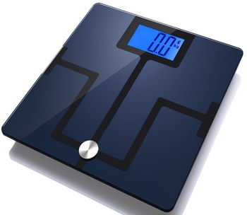 BMI Bluetooth Body Fat Analyser In Blue And Black