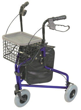 Folding Disability Trolley For Walking With Basket
