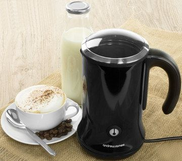 300 ml Hot Cold Auto Milk Frother With Black Exterior