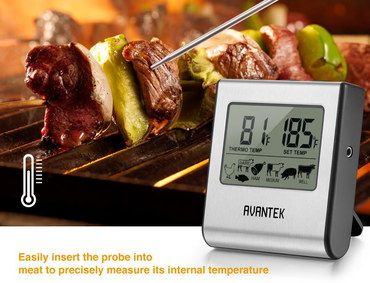 LCD Digital Food Thermometer With Big Screen