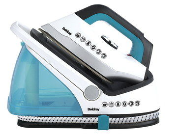 Vertical Steam Station Iron In Black And Blue