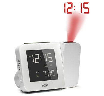 Precision Radio Controlled Clock In All White