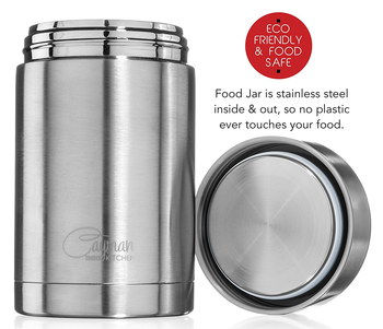 Insulated Container For Hot Food In Polished Steel