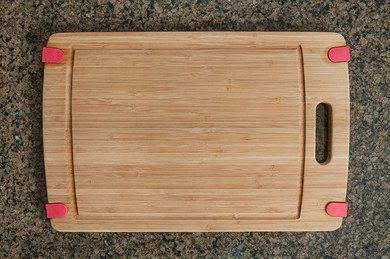 Bamboo Chopping Board With Handle On Left Edge
