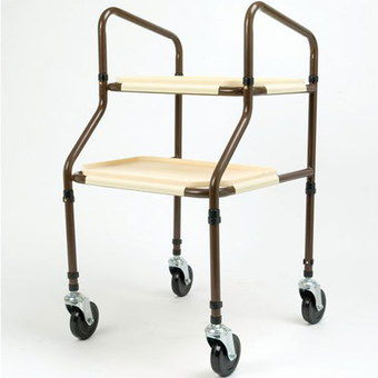 Mobility Walking Trolley In Cream And Brown