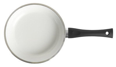 Non-Stick Kitchen Ceramic Fry Pan With White Interior